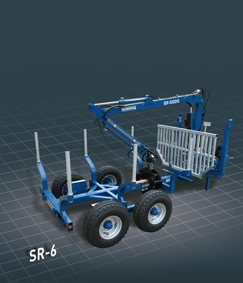 Forstkräne und Rückenwagen